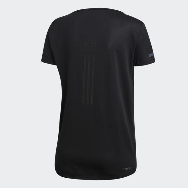 ADIDAS CHILL TEE W 女裝 短袖 慢跑 訓練 健身 透氣 吸濕 排汗 舒適 黑【運動世界】EI6385