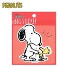 【日本正版】史努比 防潑水 貼紙 行李箱貼 手帳貼 裝飾貼紙 Snoopy PEANUTS - 275580