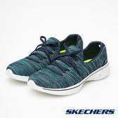 SKECHERS 女鞋 健走系列 GO Walk 4 針織腳套式 - 藍 14919NVTQ