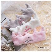 Catworld Queen皇冠絨面鬆緊髮帶【18003234】‧F*特價
