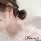 現貨 韓國女神氣質浪漫花朵珍珠水鑽925銀針 夾式耳環 S93716 批發價 Danica 韓系飾品 韓國連線