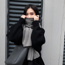 圍巾 圍巾女秋冬季韓版百搭長款加厚日系軟...