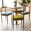 鐵製木紋牛角餐椅【JL精品工坊】餐椅 椅子 辦公椅 休閒椅