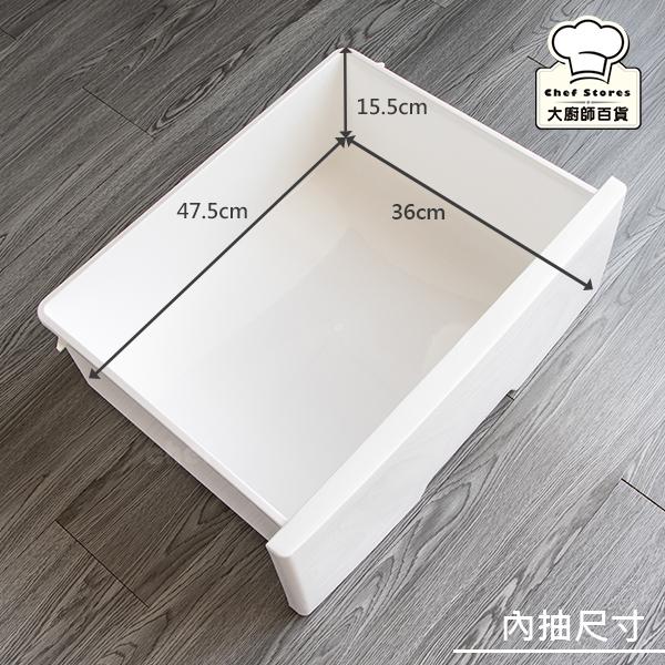 聯府和歌山寬型四層櫃112L抽屜櫃收納櫃W504-大廚師百貨