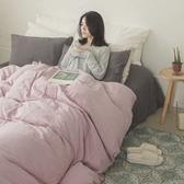 長絨棉 床包組 雙人【雙層紗-十字深灰】 透氣親膚 mix&match 簡約設計 翔仔居家