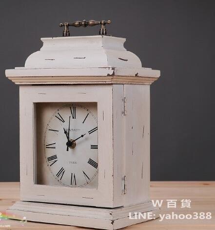 桌面座鐘 木製時鐘  帶鑰匙收納功能 歐風