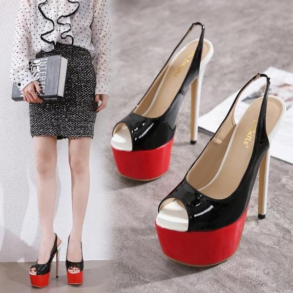 特惠 新上市19cm超高跟鞋超細跟性感夜店絨面單鞋16cm/18cm/20cm/22cm