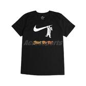Nike 短袖T恤 NSW Swoosh Tee 黑 白 女款 短T 貓咪 運動休閒 【PUMP306】 DA2481-010