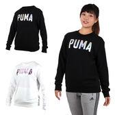 PUMA Fusion女長袖圓領衫(長T T恤 慢跑 免運 ≡排汗專家≡