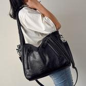 托特包 鱷魚紋單肩女包大容量手提包斜背女士大包包潮-大小姐韓風館