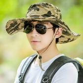 釣魚帽遮陽帽運動帽夏天戶外釣魚帽大沿迷彩遮陽