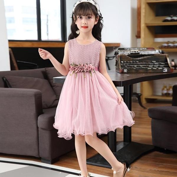 兒童公主裙幼兒園表演服生日禮服花童女童蓬蓬紗裙花朵連身裙新品【萬聖夜來臨】