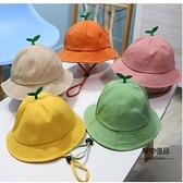 男女寶寶夏季兒童遮陽小清新可愛發芽小草盆帽嬰兒漁夫帽【聚物優品】
