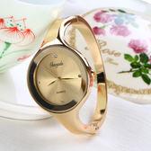 韓版簡約手錬錶女韓國潮流時尚防水學生手錶休閒手鐲式石英錶腕錶 薔薇時尚
