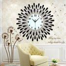 簡約壁鐘裝飾客廳掛鐘個性創意鐘錶大 現代歐式靜音石英時鐘掛錶