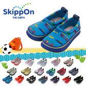 童鞋 / 戶外 / 防滑 / 百搭 / 日本兒童休閒機能鞋-藍底炫車 Skippon