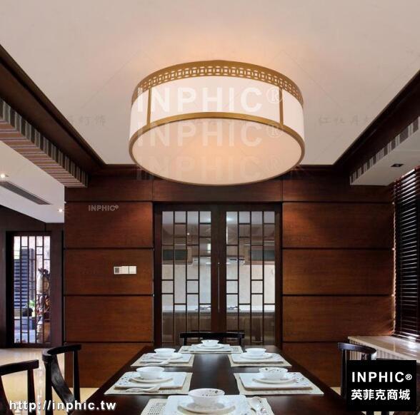 INPHIC-新中式吸頂燈 現代大氣圓形led客廳燈創意溫馨臥室書房壓克力燈具-銅錢款直徑50高度21cm_S3081C