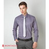 襯衫男款長袖 夢特嬌 素面直條紋吸濕排汗款 灰色