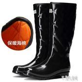 女士加棉雨鞋冬季保暖雨靴歐美時尚套鞋成人高筒水鞋防滑防水膠鞋 DJ5687【宅男時代城】