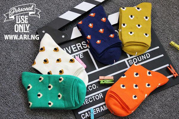 襪子   可愛小磨菇中筒襪   【FSW024】-收納女王
