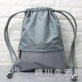 束口袋抽繩雙肩包男女通用戶外旅行背包防水輕便折疊運動健身包袋 晴川生活館