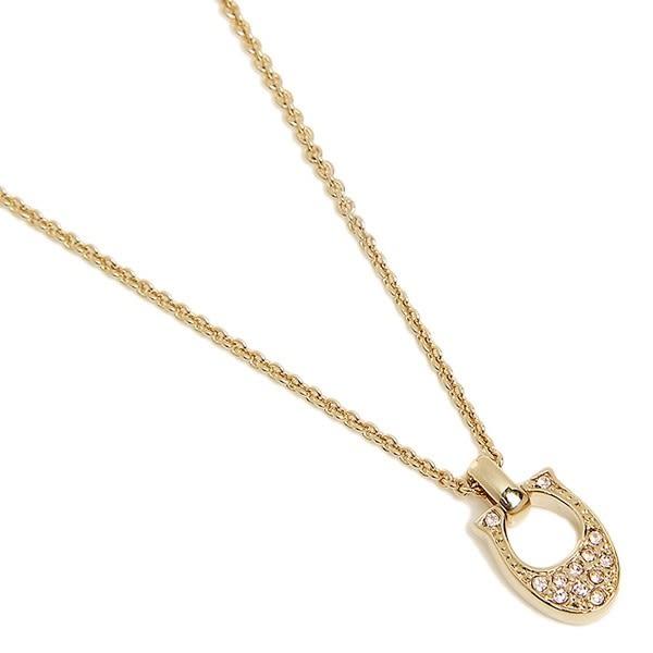 米菲客 COACH 54517 禮盒款 經典品牌C字LOGO設計 水鑽鑲嵌配飾 項鍊 (金)