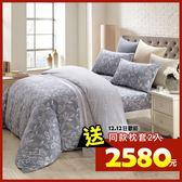 床包被套組 四件式雙人兩用被加大床包組/奧德曼灰/美國棉授權品牌[鴻宇]台灣製2013