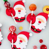 【BlueCat】聖誕節紅白圍巾企鵝聖誕老人棒棒糖吸管裝飾卡 派對裝飾 (50入)