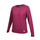 FIRESTAR 女彈性圓領長袖T恤(慢跑 路跑 運動 上衣 吸濕排汗 反光 免運 ≡排汗專家≡
