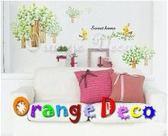 壁貼【橘果設計】樹林 DIY組合壁貼/牆貼/壁紙/客廳臥室浴室幼稚園室內設計裝潢
