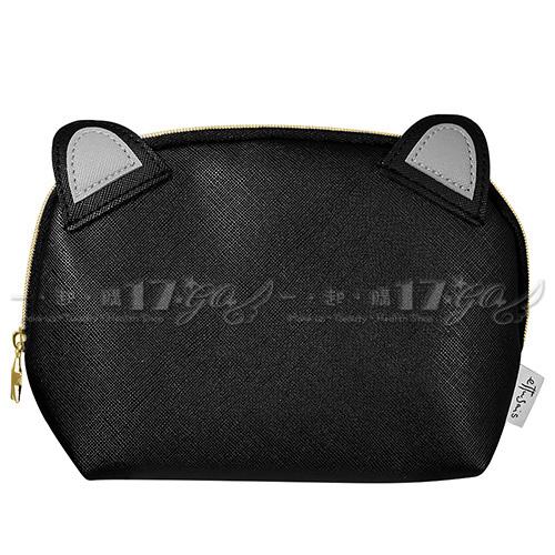 ☆17go☆ ETTUSAIS 艾杜紗 黑色貓咪化妝包
