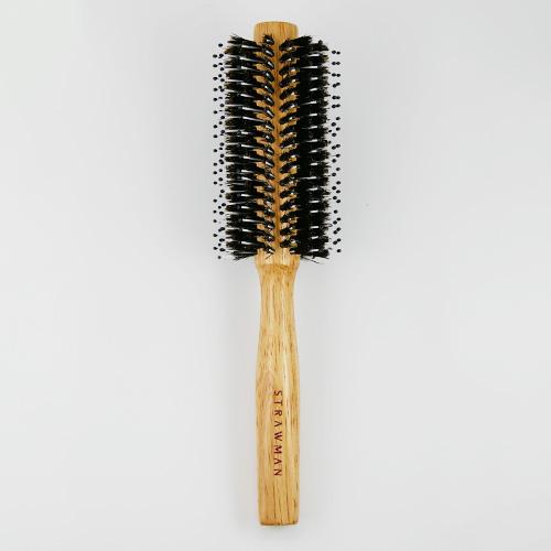STRAW MAN 豚毛捲梳(M5720) 1入 圓捲梳 圓梳 美髮梳 STM【新高橋藥妝】