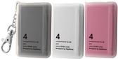 ◆免運費◆DigiStone 防震多功能4P記憶卡收納盒(4片裝)-三色黑白粉 X1組(台灣製造!!)= 耐防震功能!!