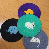ZEZE貓抓板逗貓咪玩具用品天然劍麻貓抓毯耐抓磨爪器小卡通貓爪墊