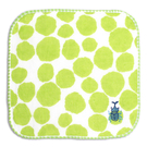 純棉刺繡小方巾(紗布+毛巾)-甲蟲 (16x16cm)