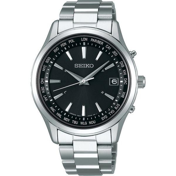 【台南 時代鐘錶 SEIKO】精工 SPIRIT 太陽能電波時尚腕錶 SBTM273J@7B27-0AA0D 黑/銀 40mm