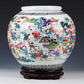 景德鎮陶瓷器仿古百子圖大花瓶中式古典客廳家居裝飾擺件結婚禮物igo   酷男精品館