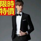 西裝套裝 包含西裝外套+褲子 男西服-上班族制服創意自信熱賣簡單54o37[巴黎精品]