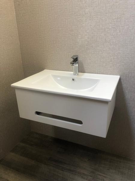 *人氣推薦。小資必買!衛浴設備 寬71cm臉盆+短櫃(無收納功能) 下開孔可掛毛巾 附水龍頭及配件