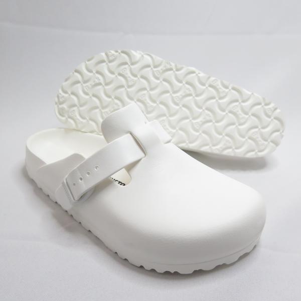 Birkenstock 勃肯 足跡舒適鞋 Boston EVA 包頭拖鞋 127133 女款 白【iSport愛運動】