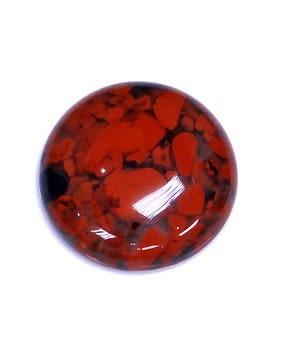 [協貿國際]天然花紅石圓形戒面DIY手工飾品配件(5入價)