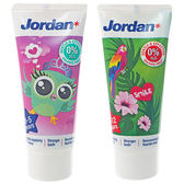 挪威 Jordan 清新水果味兒童牙膏(50ml) 兩款可選【小三美日】圖案隨機出貨