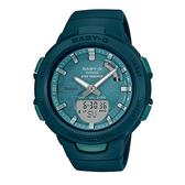CASIO手錶專賣店 BABY-G  BSA-B100AC-3A 藍牙運動雙顯錶 樹脂錶帶 湖綠 防水100米 雙LED照明