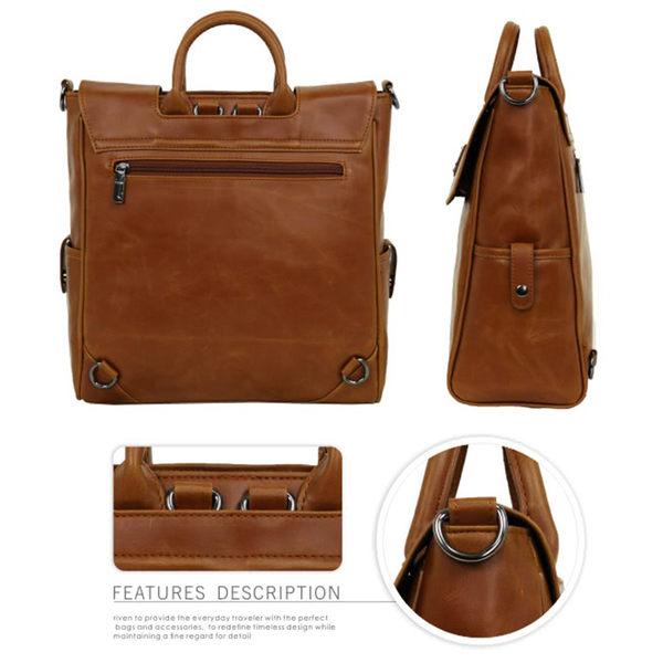 後背包1/2princess品牌復古經典皮革四用包 斜背包 肩背包 手提包 (直款)[A2629]
