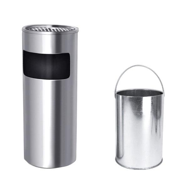 不銹鋼垃圾桶酒店大堂立式煙灰缸座地果皮桶大號方形帶內桶限時八九折