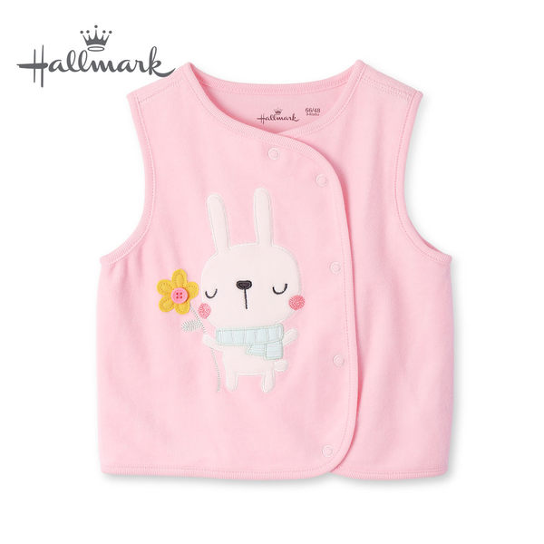 Hallmark Babies 秋冬女嬰兔子背心 HH3-N02-08-BG-MR