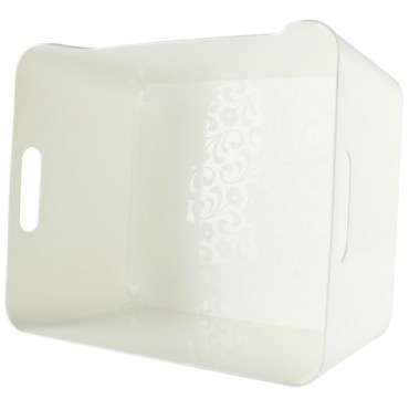 KEYWAY 中比利整理收納盒 白色款 KY-626 33.5x24x14.2cm