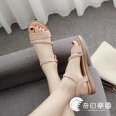 涼鞋-涼鞋女仙女風夏季鞋子新款韓版百搭簡約學生網紅平底鞋潮-奇幻樂園