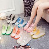 618好康鉅惠雨鞋果凍加絨成人透明保暖雨靴膠鞋防水鞋