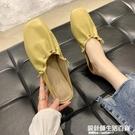 平底半拖鞋穆勒鞋顯白2020春夏季新款包頭褶皺奶奶鞋半托單鞋女 設計師生活